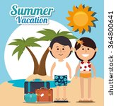 summer  vacations and travel   Shutterstock .eps vector #364800641