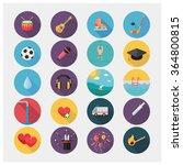 vector icons in flat design  | Shutterstock .eps vector #364800815
