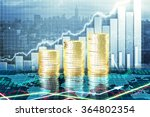 capital growth concept with... | Shutterstock . vector #364802354