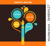 creative writing infographics... | Shutterstock .eps vector #364804127