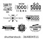 set of vintage thank you badges.... | Shutterstock .eps vector #364804511