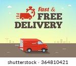 illustration of  fast shipping... | Shutterstock .eps vector #364810421