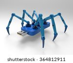 robotic spider flash pen stick  ... | Shutterstock . vector #364812911
