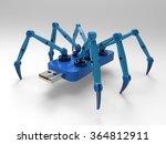 robotic spider flash pen stick  ...   Shutterstock . vector #364812911