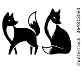 vector isolated fox. black and... | Shutterstock .eps vector #364813061