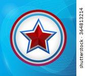 shiny tricolor star. | Shutterstock .eps vector #364813214