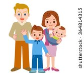 smile of a happy family | Shutterstock .eps vector #364814315