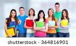 group of student. | Shutterstock . vector #364816901