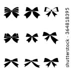 set of gift bows with ribbons... | Shutterstock .eps vector #364818395