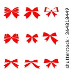 set of gift bows with ribbons... | Shutterstock .eps vector #364818449