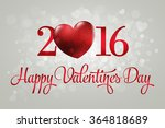happy valentine's day lettering ... | Shutterstock .eps vector #364818689