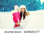 happy mother and child walking... | Shutterstock . vector #364820177