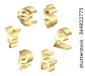 gold currency symbol | Shutterstock .eps vector #364822775