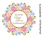 invitation with floral... | Shutterstock .eps vector #364835474