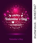 happy valentines day card. i... | Shutterstock .eps vector #364837667