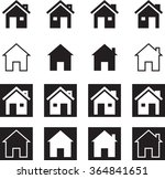 home icon symbol vector... | Shutterstock .eps vector #364841651