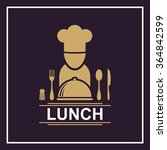 lunch emblem on a square... | Shutterstock .eps vector #364842599