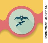 halloween bat flat icon with... | Shutterstock .eps vector #364844537