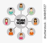 teamwork concept design    Shutterstock .eps vector #364845527