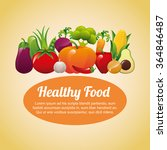 healthy food design  | Shutterstock .eps vector #364846487