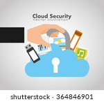 cloud security design  | Shutterstock .eps vector #364846901