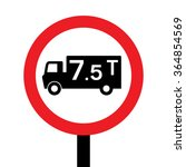 uk no goods vehicles exceeding... | Shutterstock .eps vector #364854569