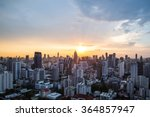 view of Sunset over cityscape