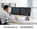 financial analyst looking at... | Shutterstock . vector #364858841
