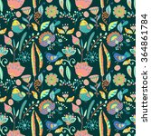 floral seamless pattern for... | Shutterstock .eps vector #364861784