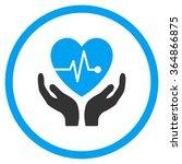 cardiology care vector icon.... | Shutterstock .eps vector #364866875