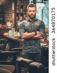 confident barber expert. young... | Shutterstock . vector #364870175