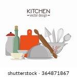 kitchen dishware utensils    Shutterstock .eps vector #364871867