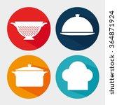 kitchen dishware utensils  | Shutterstock .eps vector #364871924