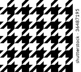 Trendy houndstooth pattern that tiles seamlessly as a pattern. - stock photo