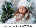the beautiful little girl in a... | Shutterstock . vector #364876034