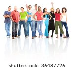 happy funny people. isolated... | Shutterstock . vector #36487726