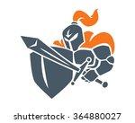 knight warrior cartoon character | Shutterstock .eps vector #364880027