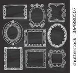 vintage photo frame in doodle... | Shutterstock .eps vector #364880507