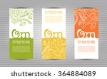 om mantra lettering with floral ... | Shutterstock .eps vector #364884089