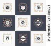monogram luxury logo template... | Shutterstock .eps vector #364885175