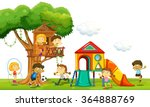children playing at the