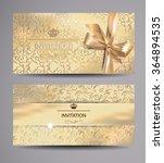 set of gold invitation cards...   Shutterstock .eps vector #364894535