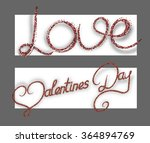 vector banners with red... | Shutterstock .eps vector #364894769