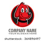 Stock vector red puppy dog animal pet fauna logo 364896497