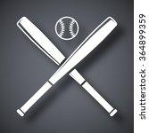 vector baseball bats and ball... | Shutterstock .eps vector #364899359