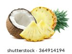pineapple coconut pieces... | Shutterstock . vector #364914194