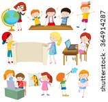 children doing different... | Shutterstock .eps vector #364914287