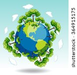 forests around the earth... | Shutterstock .eps vector #364915175