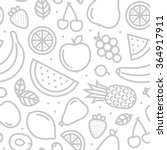 fruits seamless vector pattern... | Shutterstock .eps vector #364917911
