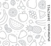 fruits seamless vector pattern...   Shutterstock .eps vector #364917911